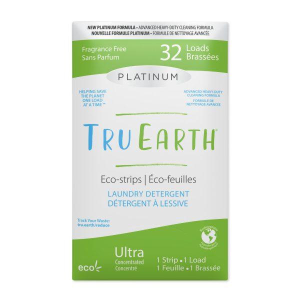 Tru Earth Platinum Eco-strips Laundry Detergent (Fragrance Free) - 32 Load